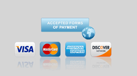 Display the Types of Payment you Accept